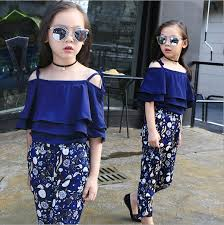 <b>Fashion</b> Summer <b>Girls Clothing Set</b> 2019 Children Off Shoulder ...