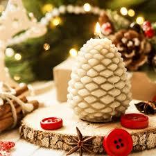 <b>3D</b> Christmas Pine Cone Food grade <b>Silicone Candle Mold</b> ...