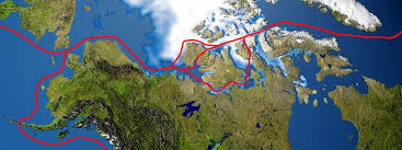 The Nort West passage route through the Ccanadian Artic Archipelago