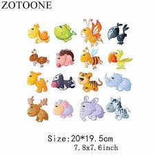 <b>ZOTOONE Cute</b> Cat Cartoon Animal <b>Iron</b> On Patches Clothes ...