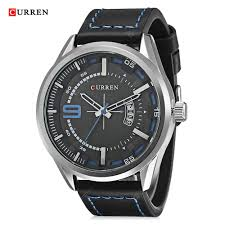 <b>CURREN</b> 8295 Men Quartz Waterproof Leather Strap Wristwatch ...