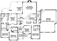 ranch style open floor plans   basement   Classic Brick Farm    ranch style house plans   open floor plan   rear entry garage   Plan W DA