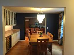 dining room khaki tone: we needed to balance both sides of the room by making the window appear as large as the cabinets so i chose a bold osborne and little fabric with blues