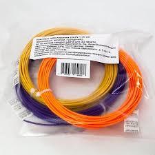<b>Комплект ABS</b>-<b>пластика ESUN</b> для 3D ручек (оранжевый ...