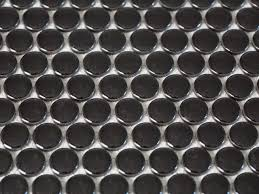 kitchen backsplash stainless steel tiles: solid penny round tile bpf holiday house interior choosing kitchen mosaic backsplash solid penny round hjpgrendhgtvcom