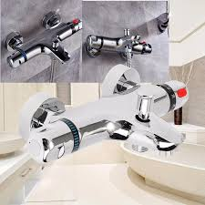 thermostatic brand bathroom: wall mounted bath shower ceramic thermostatic faucets valve bathroom shower water thermostatic control valve mixer faucet