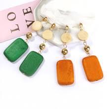 Hello <b>Miss</b> New <b>personality temperament earrings</b> retro square ...