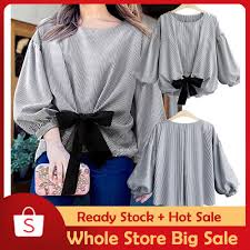 Beauart  Women <b>Plus Size</b> Striped <b>Lantern</b> Sleeve Pullover Crop ...