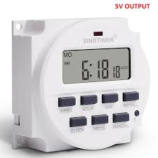 <b>Sinotimer 5V Power Supply</b> 7 Days Weekly Programmable Digital ...