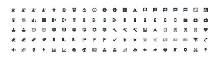 name basic icons flat icons 1000