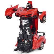 Children <b>Electric</b> Light Toy <b>Remote Control Deformation</b> Robot Car ...