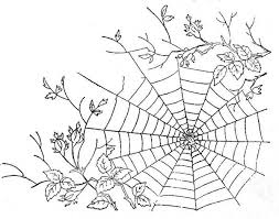 Small Picture Spider Spider Web Between Tree Branch Coloring Page coloring