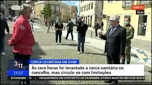 Ministro da Administração Interna em Ovar após levantamento da cerca sanitária