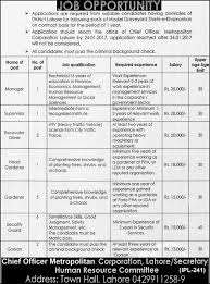 metropolitan corporation lahore jobs vacancies official advertisement for metropolitan corporation lahore jobs 2017 20 vacancies available