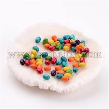 <b>Wholesale 100PCS Mixed</b> Lead Free Oval Wood Beads, Dyed ...