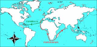 Resultado de imagen de descubrimiento de américa mapa