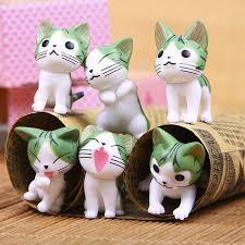 6pcs/lot <b>Japanese Anime</b> Cat Figures <b>Chi's Sweet</b> Home Cat Emoji ...
