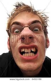 Angry Ugly Man With Crooked Teeth And Glasses Stock Photo & Stock ... via Relatably.com