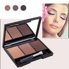 Beau Kiss <b>Eyebrow Powder</b> Shadow Palette <b>3</b>-<b>colors</b> Waterproof ...