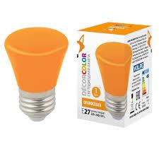 (UL-00005642) <b>Volpe E27 1W</b> оранжевая матовая <b>LED</b>-<b>D45</b>-<b>1W</b> ...