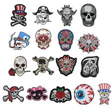 <b>DIY</b> Embroidered <b>Punk Skull Patch</b> Clothes Accessories Appliques ...