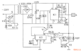 component  electricity circuit diagram  electric fan anti injured    electric fan anti injured controller control circuit circuit electricity diagrams    full size