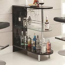 amazoncom coaster home furnishings 101063 contemporary bar table black kitchen dining black mini bar home