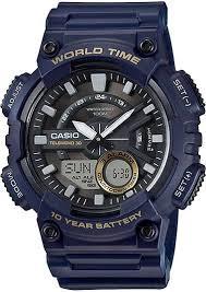 часы наручные мужские casio collection цвет черный серый aeq 110w 1a