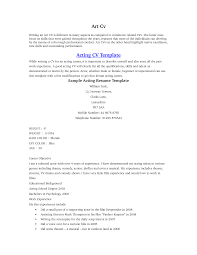 acting resume beginner template acting resume beginner actors resume template word