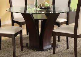 Round Glass Dining Room Table Round Glass Top Dining Table Home Decor