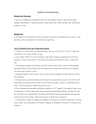 example of profile essay template example of profile essay