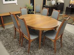 size dining room glossy oval wood