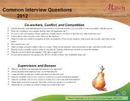 common interview questions newsletter format page maven get in touch
