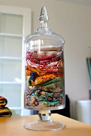 upper kitchen cabinets pbjstories screenbshotb: use an apothecary jar to store scarves