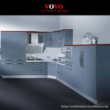 chinese customized kitchen cabinets  customized kitchen cabinets hot sales modern grey lacquer kitchen fur