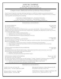 clinical director resume resume samples