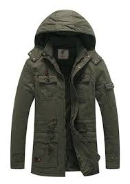 <b>Men's</b> Winter <b>Thicken Cotton</b> Parka Jacket with Removable Hood at ...