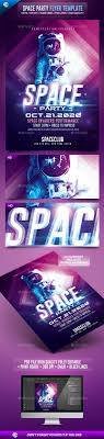 best ideas about creative flyers summer poster space night party futuristic flyer template