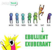 Ebullient (or Exuberant) Meaning in Hindi with Picture via Relatably.com