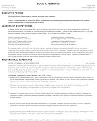 experienced military resume example