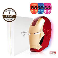 IRON MAN LED Mask, 3 Color Photon Light Skin ... - Amazon.com