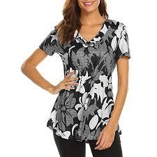 Toamen <b>Women's</b> Tops T-Shirt Sale <b>2019</b> New Ladies Casual V ...