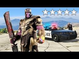 Playing as <b>THANOS</b> in GTA 5! (<b>Avengers Endgame</b>) - YouTube