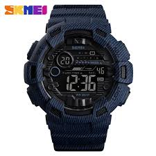 Skmei 1472 <b>Fashion Sport Men</b> Alarm Clock Waterproof Digital <b>Watch</b>
