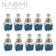 <b>10PCS</b> 9 Pin 3PDT <b>Guitar</b> Effects Pedal Box Stomp Foot Metal ...
