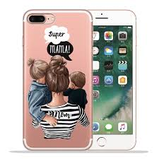<b>Fashion Super mom</b> Dad Girl <b>Baby</b> Phone Case for Funda iPhone 8 ...