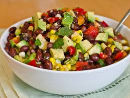 Black bean,avocado,corn salad