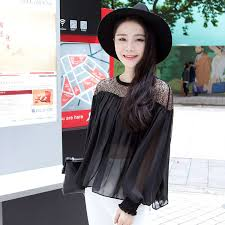 Chiffon Shirt Woman Long Sleeve 2016 Spring <b>Clothes New Pattern</b> ...