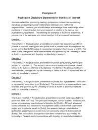 public disclosure statement examples