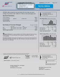 sample bill highlighting service address san diego gas electric sample bill service address highlighted